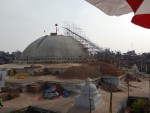 Rebuilding the stupa at Boudhanath